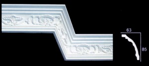 Leaf and Scroll Cornice