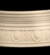 Curved Egg and Dart With Bead Cornice